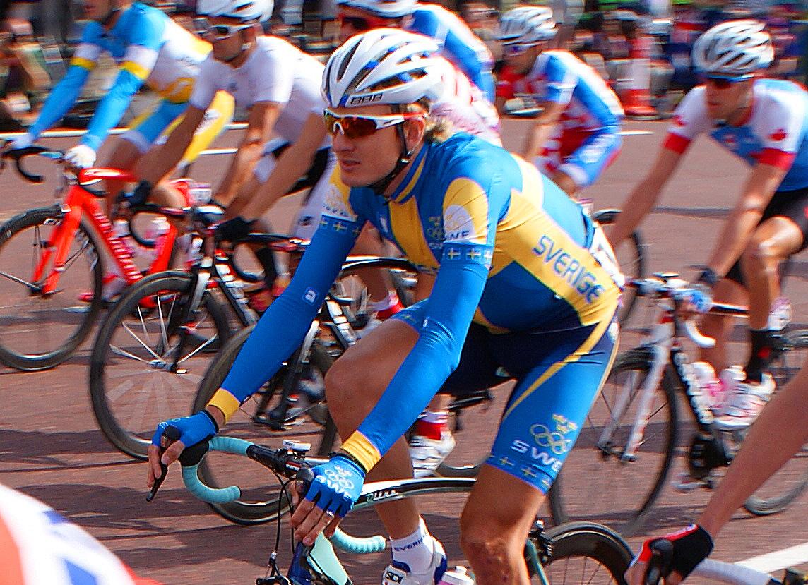 Gustav Larsson var ensam svensk vid linjeloppet i OS 2012. I Rio har Sverige två platser. Foto: Cyclesport.se -