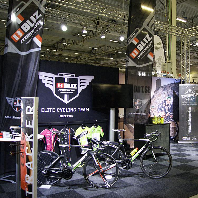 Cyclesport.se håller till i monter A:2 tillsammans med Team Bliz-Merida och Bliz Active Eyewear -