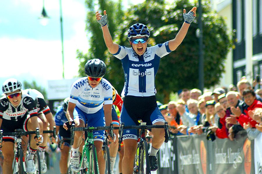 Lotta Lepistö vann Crescent Vårgårda – UCI Women´s WorldTour. Foto: Dennis Nystrand,  - Cyclesport.se